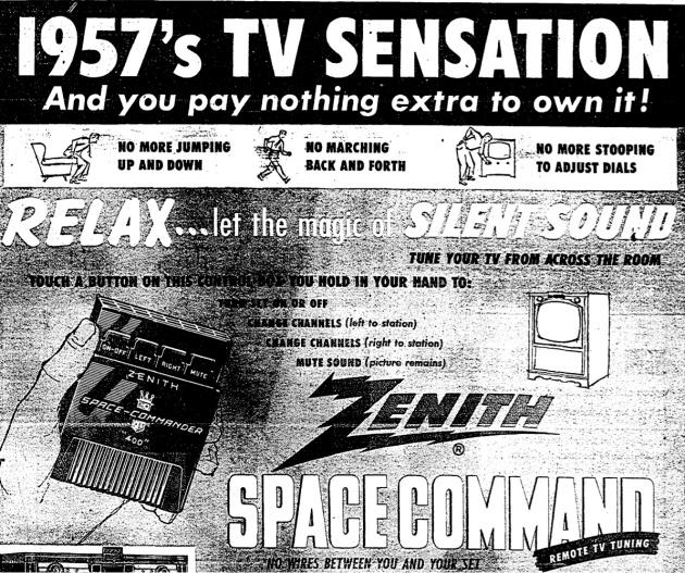 Zenith advertisement, 1957.