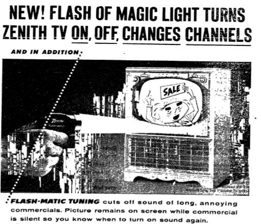 Zenith advertisement, c. 1955.