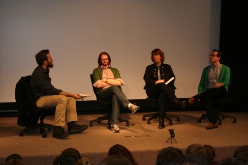 RTVF330 Critics' Round Table. From left: Max Dawson, Myles McNutt, Mo Ryan, Erik Adams.